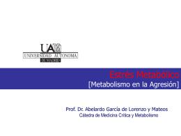 Respuesta Metabolica a la Agresión