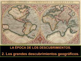 2. Los grandes descubrimientos geográficos