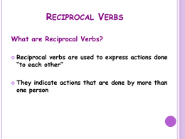 Reciprocal Verbs