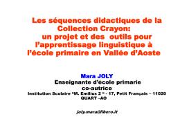 Séquences didactiques de la collection crayon - EBP-ICI