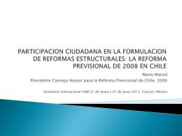 Mario Marcel - (FIAP) Federación Internacional de Administradoras