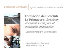 Mayor Buratovich - Secretaría de Ambiente y Desarrollo Sustentable