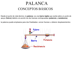 Tipos de palanca - RecursosEDTecnologica