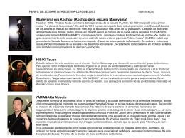 perfil de los artistas - Embajada del Japón en el Perú