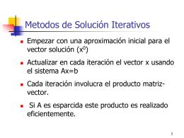 Sistema de Ecuaciones Lineales Metodos Iterativos