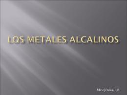 Los Metales Alcalinos