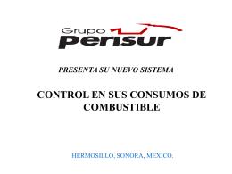 Presentacion power point - Combustibles y Servicios Perisur, SA de