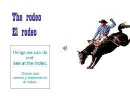 The rodeo El rodeo - green bean kindergarten