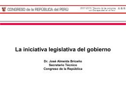 Iniciativa legislativa del gobierno
