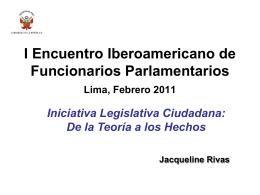 Iniciativa Legislativa Ciudadana - Congreso de la República del Perú