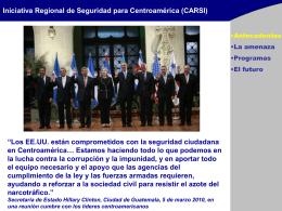 Iniciativa Regional de Seguridad para Centroamerica