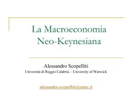 La Macroeconomia Neo