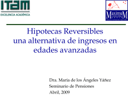 Hipotecas Reversibles una alternativa de financiamiento a