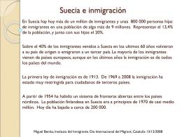 Suecia e inmigración