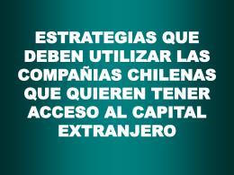 Sistemas Financieros en los Paises que Están en Proceso de