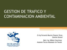 Gestión de Tránsito y Medio Ambiente