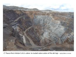 Cerro de Pasco y otras minas a tajo abierto