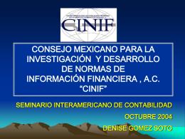 Diapositiva 1 - Consejo Mexicano de Normas de Información
