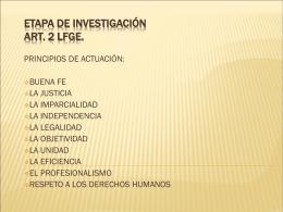 ETAPA DE INVESTIGACIÓN - Poder Judicial del Estado de Yucatán