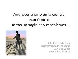 economia-androcentrismo - Facultad de Ciencias Económicas