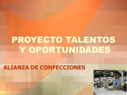 PROYECTO TALENTOS Y OPORTUNIDADES