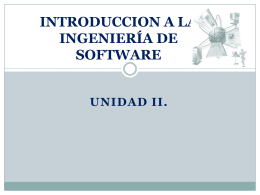 INTRODUCCION A LA INGENIERÍA DE SOFTWARE