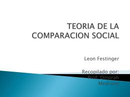 teoria comparación social y atribucion