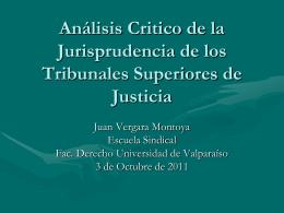 Análisis Critico de la Jurisprudencia de los