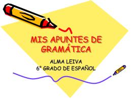 Mis apuntes de Gramática