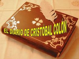 EL DIARIO DE CRISTBAL COLN