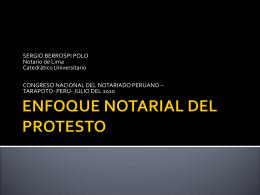 EL PROTESTO NOTARIAL- Análisis desde el punto de vista notarial
