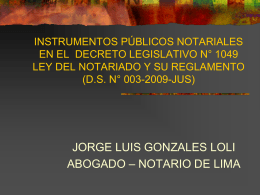 instrumentos publicos notariales