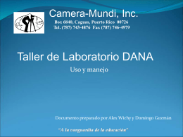 Taller de Laboratorio DANA
