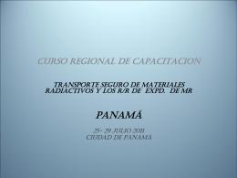 Presentación Curso en Panamá