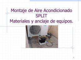 Como instalar un A. Acondicionado