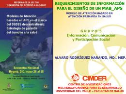 Diapositiva 1 - Organización Panamericana de la Salud. Colombia