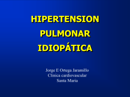 HIPERTENSION PULMONAR PRIMARIA
