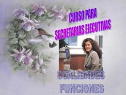 Secretaria, Funciones.
