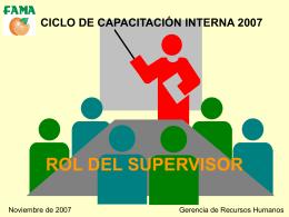 Rol del supervisor - Hugo Grana Consultores