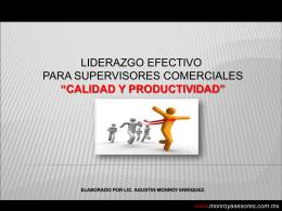 MATERIAL CURSO LIDERAZGO EFECTIVO SUPERVISORES