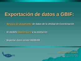Servicio de Alojamiento de bases de datos en la red de GBIF