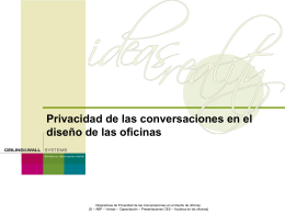 Speech Privacy In Office Design Slides - 2005