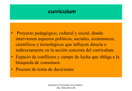 CURRICULUM UNIVERSITARIO - Facultad de Ciencias Exactas