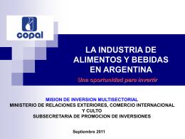 Indutrias de Alimentos y Bebidas en la Argentina
