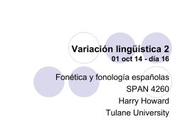 Variación lingüística 2 01 oct 14
