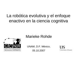 Diapositiva 1 - Marieke Rohde