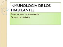 14. Inmunología de los Transplantes