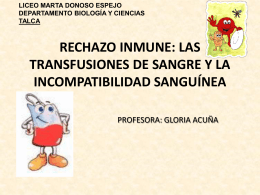 rechazo inmune - Liceo Marta Donoso Espejo