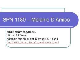 SPN 1115 – Melanie D`Amico