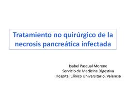 Tratamiento no quirúrgico en la necrosis pancreática infectada